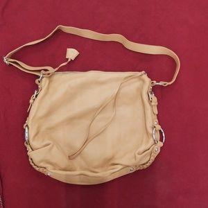 Banana republic leather bag satin monogram